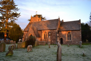 St Andrew's Church, Alvington on a crisp winter's day